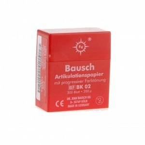 Bausch 200u Articulating Paper - Plastic Dispenser Red