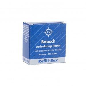 Bausch 200u Articulating Paper - Refil Box Blue