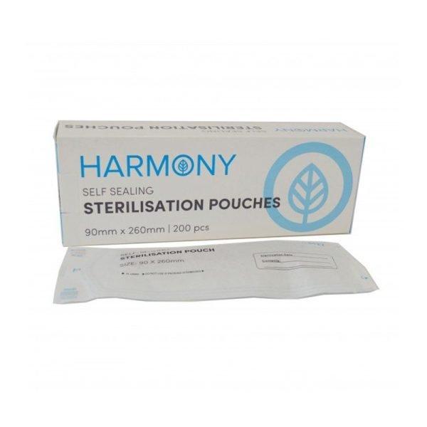 Harmony Self-Sealing Sterilisation Pouches 90x260mm