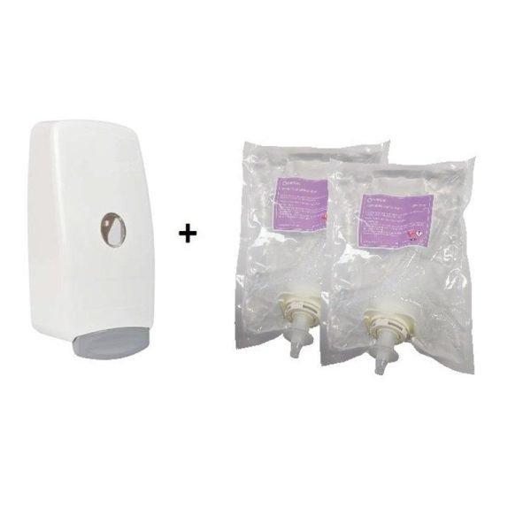 Alcohol Sanitiser Foaming 70 1000ml Starter Pk 1 Dispenser 2 Refills