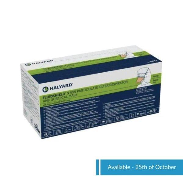 Halyard FluidShield N95 Packaging