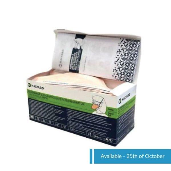 Halyard FluidShield N95 Packaging opened